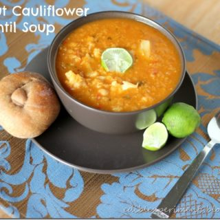 Coconut Cauliflower Red Lentil Soup