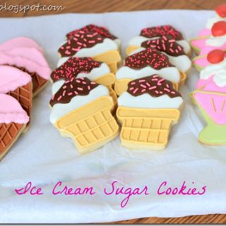 Ice Cream Sugar Cookies and an Ice Cream Birthday Party