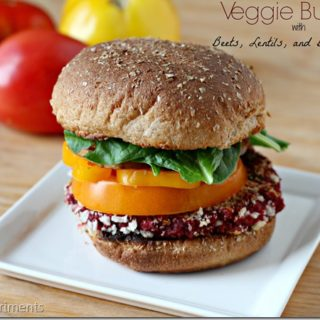 Veggie Burgers with Beets, Lentils, and Bulgur Wheat