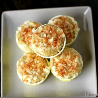 Mango, Coconut, Banana Muffins with Toasted Coconut Streusel