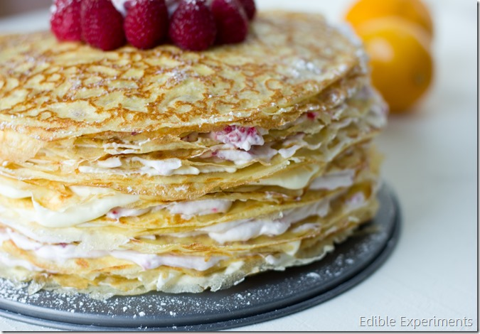 Meyer Lemon and Raspberry Crepe Cake (Perfect Valentine's Day ...