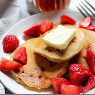Strawberry Chickpea Pancakes (And How to Make Your Own Chickpea Flour)