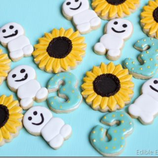 Frozen Fever Sugar Cookies (Snowgie's and Sunflowers)