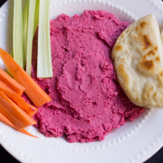 Add leftover vegetable juice pulp to homemade hummus