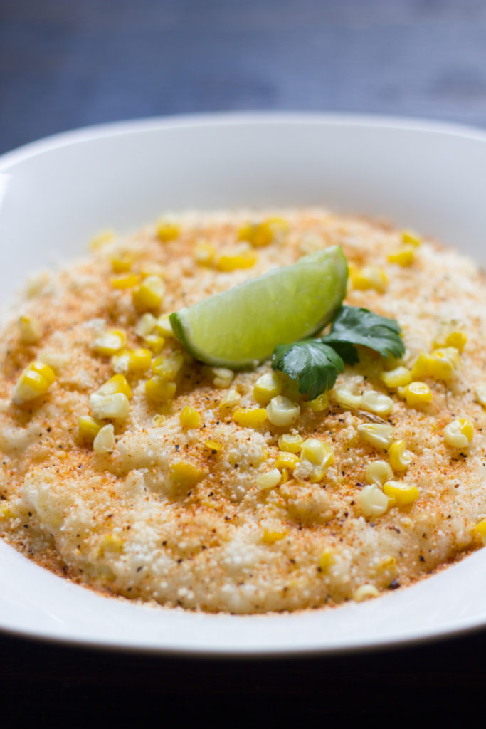 Mexican Street Corn Grits from ediblexperiments.com