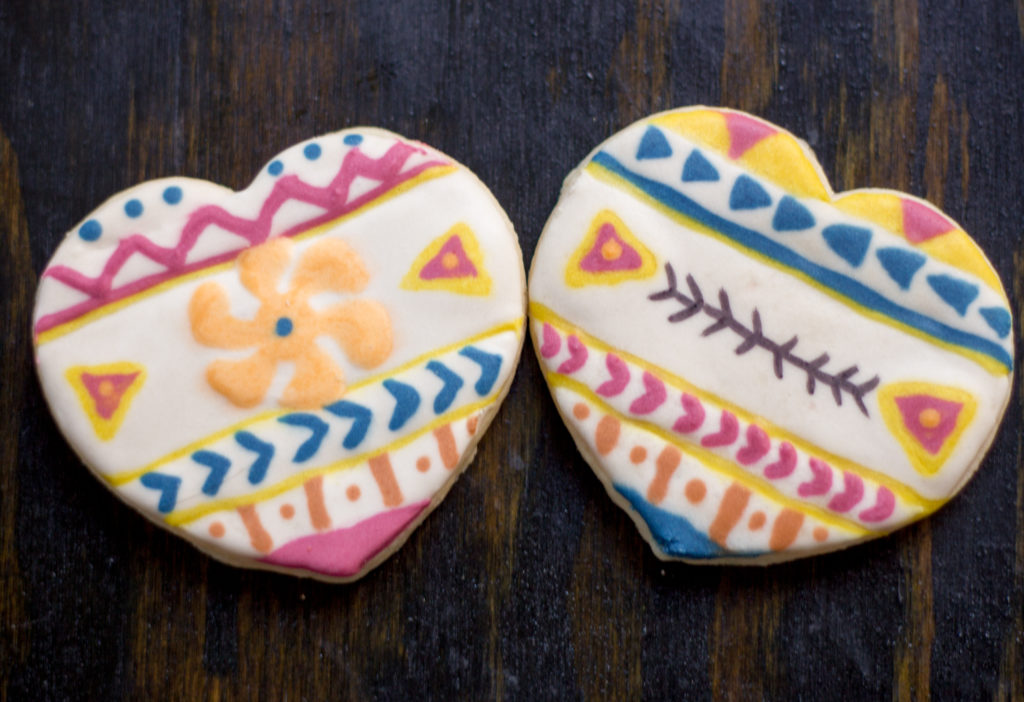 Tribal Heart Sugar Cookies