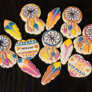 Feather and Dream Catcher Sugar Cookies