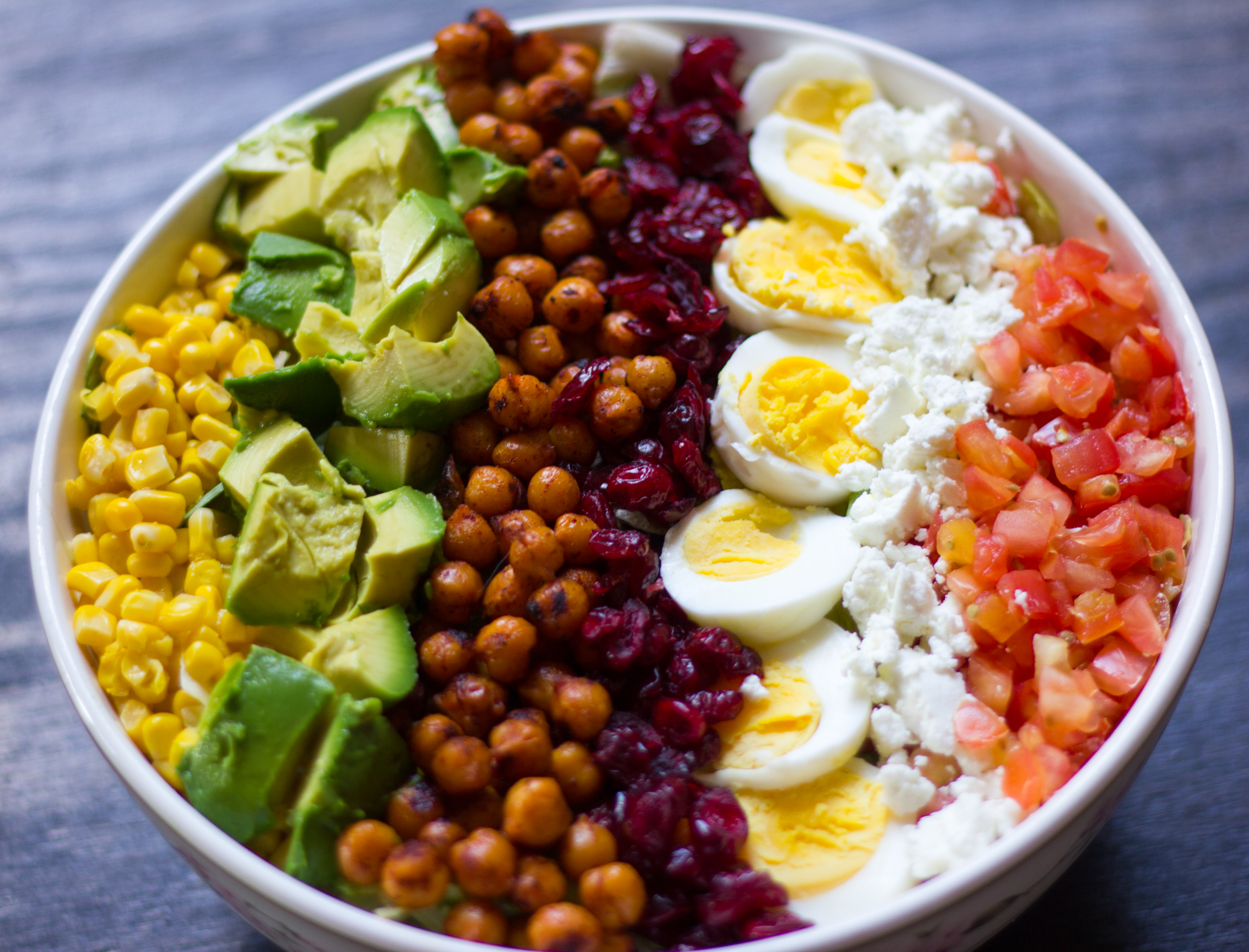 Vegetarian Cobb Salad with Smoky Chickpeas