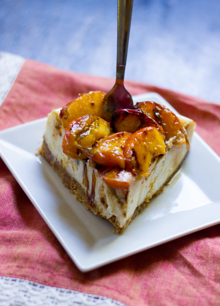 Grilled Peach Cheesecake