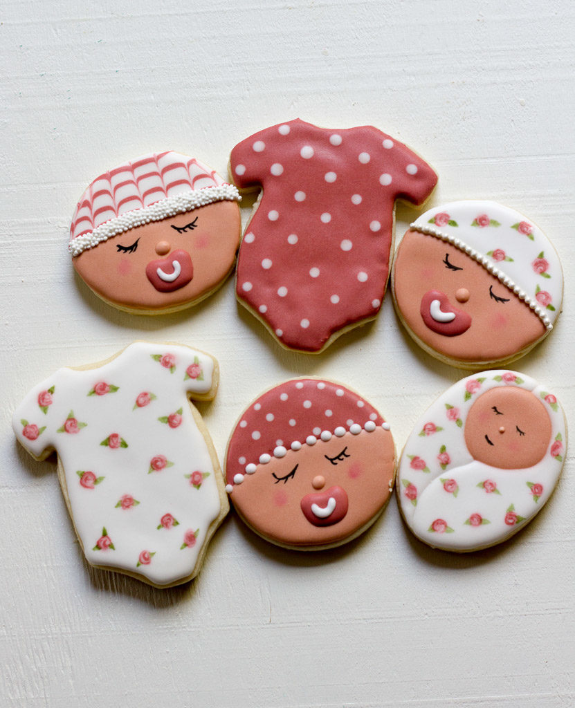 Girl Baby Sugar Cookies