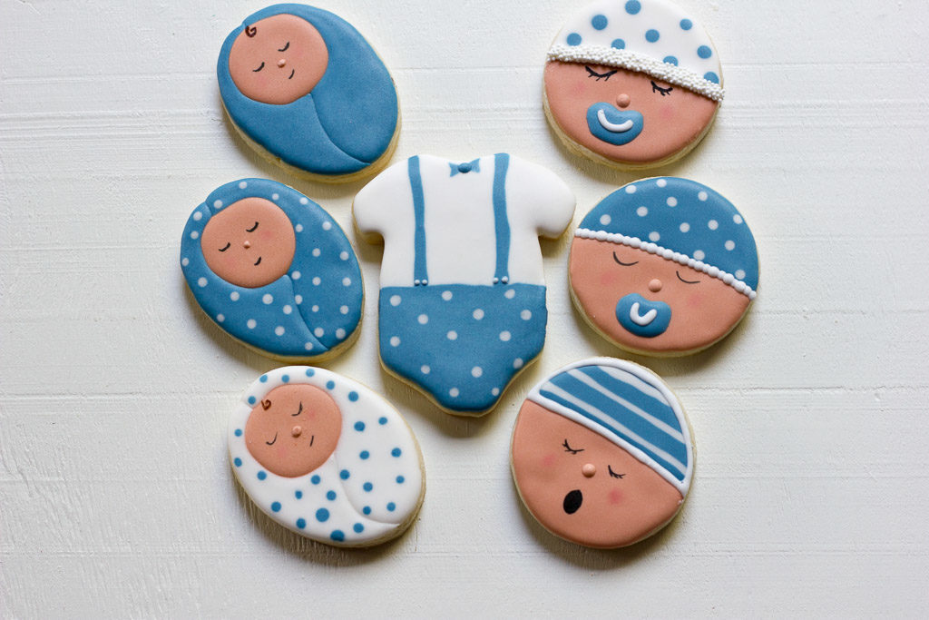 Boy Baby Sugar Cookies