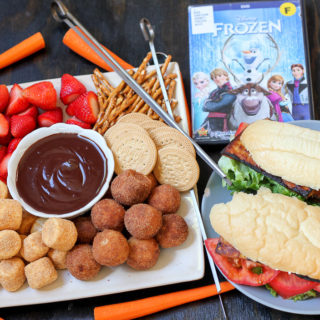 Frozen Disney Movie Night: Anna's Sandwiches and Chocolate Fondue