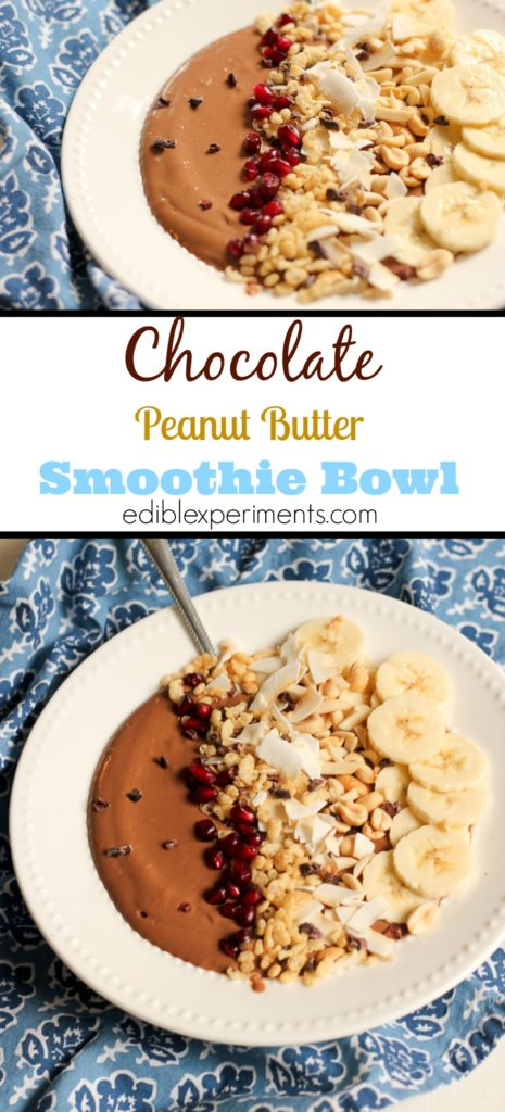 Chocolate Peanut Butter Smoothie Bowls